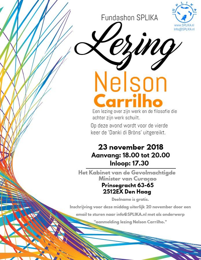 Poster lezing Nelson Carrilho